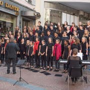 Ein öffentliches Konzert während des letzten Kinder- und Jugendchorfestivals 2017 in Lugano. (Bild: PD)