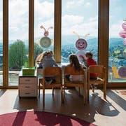 Der Kindergarten des Schulhauses Felsberg in Luzern. (Bild: Dominik Wunderli, 19. April 2016)