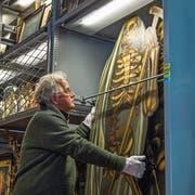 Volkskundler und Mythenforscher Kurt Lussi im Historischen Museum in Luzern. (Bild: Dominik Wunderli, 27. Oktober 2016)