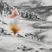 Monika Müller: «Ways of Turner 36 (Keld)», Graphitpulver, Farbstift und Bleistift. (Bild: Bea Weinmann)