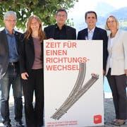 Urs Kälin (links) mit seinen Mitstreitern in der Zentralschweiz. (Bild: PD)