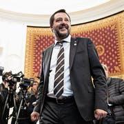 Italiens Innenminister Matteo Salvini bei der G7-Pressekonferenz. (Bild: Kenzo Tribouillard/AFP; Paris, 5. April 2019)