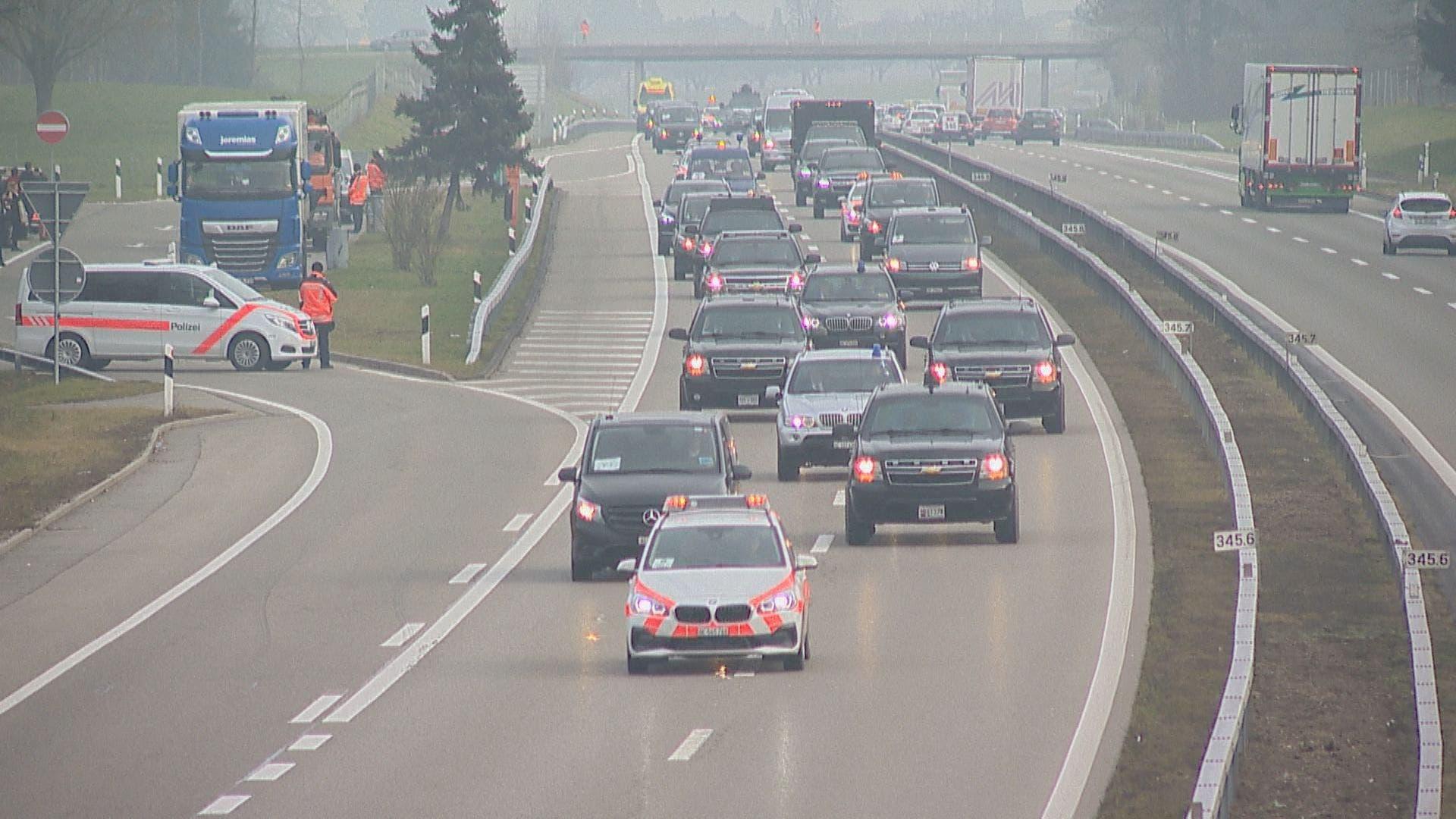 Nach seinem Auftritt am WEF: Trump fährt über St.Gallen und den Thurgau an den Flughafen | St.Galler Tagblatt