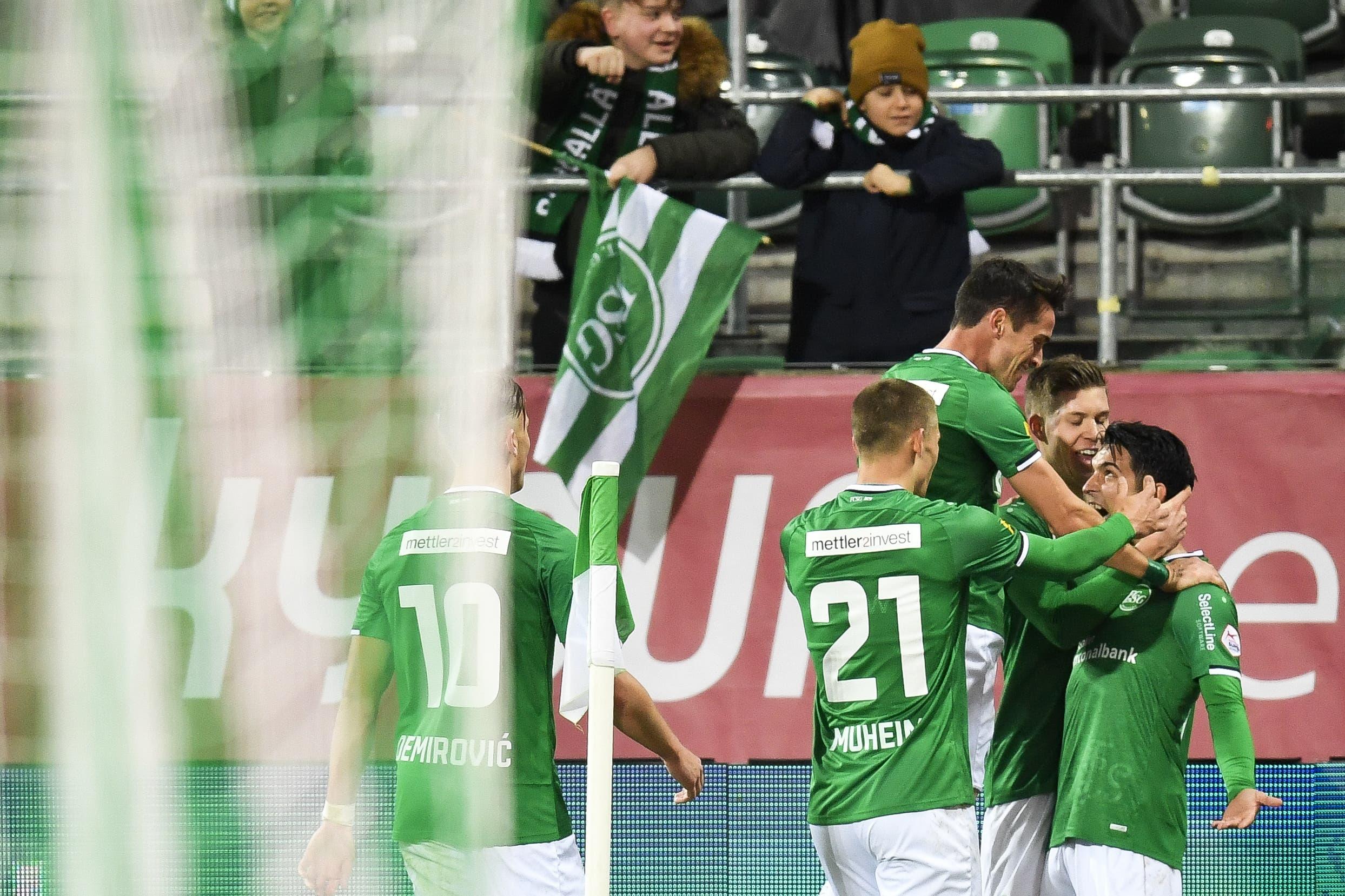 Ein Doppelschlag gegen den Rückrunden-Blues: Der FC St.Gallen dreht das Spiel gegen Lugano innert Minutenfrist | St.Galler Tagblatt