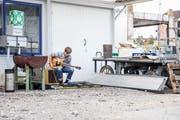 Jeremy Sigrist ist einer der sechs Musiker, die auf dem Seetalplatz aufgetreten sind. (Bild: Manuela Jans-Koch, 30. September 2018)