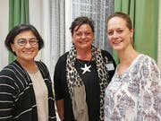 Tsela Strässle, Weiterbildungsverantwortliche, Beatrice Neff, Referentin und Miriam Steck, Expertin für Psychische Gesundheit. (Bild: PD)