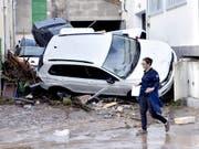 Unwetter und Überschwemmungen habe zahlreiche Ortschaften auf Mallorca heimgesucht und mindestens zehn Todesopfer gefordert. (Bild: KEYSTONE/EPA EFE/ATIENZA)
