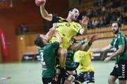 Die Ostschweizer um Andrija Pendic gewinnen gegen Thun. (Bild: Ralph Ribi)