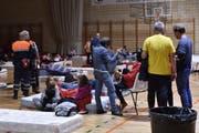 In Sant Llorenc des Cardassar in Mallorca wurden die Bewohner evakuiert und in Notunterkünfte gebracht (Bild: EPA, 9. Oktober 2018)