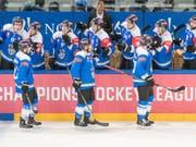 Der EV Zug zieht als zweites Team nach dem SC Bern in die K.o.-Phase der Champions Hockey League ein (Bild: Urs Flüeler/Keystone)