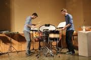 Mirco Huser und Tim Reichen bei ihrem Konzert in Kradolf. (Bild: Hannelore Bruderer)