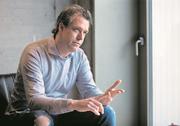 Carl Velve beim Interview im Besuchsraum der Strafanstalt Zug. (Bild: Stefan Kaiser (Zug, 03.Oktober 2018))