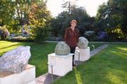 Nicht nur in der Villa, sondern auch im Alfred-Sutter-Park stehen Skulpturen von Agathe Hasler-Geiser.