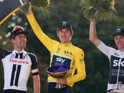 Geraint Thomas vermisst seinen Trophäe für den Gesamtsieg an der Tour de France (Bild: KEYSTONE/AP/FRANCOIS MORI)