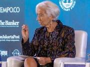 Der Internationale Währungsfonds IWF unter der Leitung von Christine Lagarde sieht noch zahlreiche Schwachstellen im weltweiten Finanzsystem. (Bild: KEYSTONE/EPA/MADE NAGI)