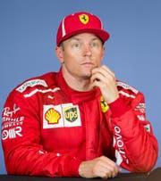 Kimi Räikkönen, hier an einer Pressekonferenz nach dem GP von Österreich (Bild: Georg Hochmuth / APA (Spielberg, 1. Juli 2018))
