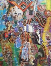 Aus der Bilderserie «Faux Uni» von Olga Titus (Drucke auf Wendepailletten). (Bild: Kunsthalle/PD)