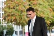 Der Zuger Regierungsrat Beat Villiger (61) erzielte am Sonntag das drittbeste Wahlresultat. (Bild: Urs Flüeler/Keystone (Zug, 7. Oktober 2018))