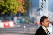 Wurde wiedergewählt: Der Zuger CVP-Regierungsrat Beat Villiger. (Bild: Urs Flüeler / Keystone (Zug, 7. Oktober 2018))