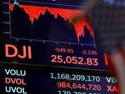 An der New Yorker Börse hielten die Kursverluste am Donnerstag an. (Bild: KEYSTONE/AP/RICHARD DREW)
