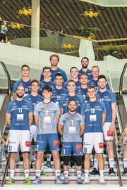 Team-Präsentation von Volley Luzern in der Mall of Switzerland. (Bild: Philipp Schmidli (Ebikon, 5. Oktober 2018)