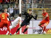 Nach diesem Joker-Tor von Mario Gavranovic zum 1:1 durfte sich Schweiz auf einen Punktgewinn hoffen (Bild: KEYSTONE/EPA/JULIEN WARNAND)