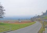 Die Sägelstrasse entlang der Autobahn A4 bei Steinen (Archivbild Bote der Urschweiz)