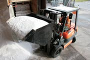 In den Werkhöfen wird Salz für den nächsten Winterdienst gelagert. (Bild: Susann Basler)