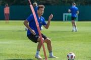 Das Thurgauer Supertalent Julian von Moos, hier im Training mit dem FC Basel, wechselte in diesem Sommer von den Zürcher Grasshoppers ans Rheinknie. (Bild: Georgios Kefalas/KEY, 3. August 2018)