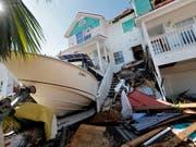 Mexico Beach im Nordwesten Floridas bietet ein Bild der Verwüstung. (Bild: KEYSTONE/AP/GERALD HERBERT)