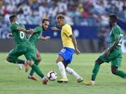 Auffälligster Akteur in Riad: Neymar spielt mit den Saudis Katz und Maus (Bild: KEYSTONE/AP/HASSAN AMMAR)