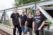 Rivers Edge: Jeremy Schauwecker, Alex Apelt, Bryan Gabathuler und Kevin Kern (v.l.). (Bild: Karin Büchi)