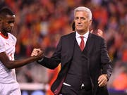 Nationaltrainer Vladimir Petkovic sah gegen Belgien trotz der Niederlage eine über weite Strecken gute Leistung seiner Mannschaft (Bild: KEYSTONE/AP/GEERT VANDEN WIJNGAERT)