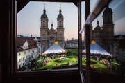 Puccinis Oper «Edgar» wurde in diesem Sommer auf dem Klosterplatz bei der Kathedrale aufgeführt. (Bild: Urs Bucher (29.Juni 2018))