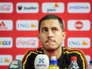 Eden Hazard will sich zu den Vorwürfen im belgischen Fussball nicht äussern (Bild: KEYSTONE/ENNIO LEANZA)