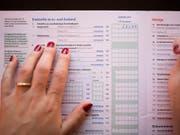 Bis Ende September konnten sich Steuersünder straffrei besinnen. Viele haben das gemacht. (Bild: KEYSTONE/GAETAN BALLY)