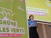 Sieht die Grünen auf dem aufsteigenden Ast: Parteipräsidenten Regula Rytz. (Bild: KEYSTONE/PETER SCHNEIDER)