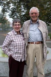 Ursula Baumann mit ihrem Ehemann Richard. (Bild: Andreas Taverner)