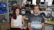 Qualifizierten sich für den Austausch: Nadja Stadelmann und Luca Zweifel. (Bild: PD)