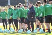 Marco Otero im vergangenen Januar im Trainingslager des FC St. Gallen in Spanien - wenig später musste er gehen. (Andy Müller/freshfocus)