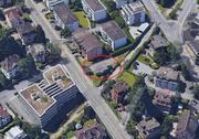 Das ehemalige Stellwerk der Zentralbahn aus der Luft. (Bild: Screenshot Google Maps)