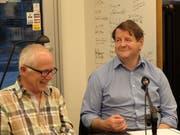 Geri Dillier (links) und Hanspeter Müller-Drossaart sind ebenfalls beim nächtlichen Geschichten-Parcours dabei. (Bild: PD)