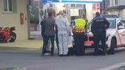 Die Polizei war mit einem Grossaufgebot vor Ort. (Bild: BRK News)