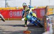 Der Stanser Benno Bieri - hier beim Rennen in Gontenschwil - holt in seiner ersten Super-Moto-Saison gleich den Titel bei den «Einsteigern». (Bild: PD)