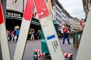 Die Strasse zwischen Grendel und Löwengraben in der Stadt Luzern wird abschnittsweise gesperrt. (Bild: Philipp Schmidli)