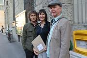 Die Petitionäre (von links): Richard Hirzel, Anita Lötscher und Hanspeter Egloff. (Bilder: Seraina Hess)