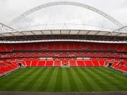 Das Wembley Stadium in London. (Bild: KEYSTONE/AP NY/KIRSTY WIGGLESWORTH)