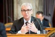 Erich Ettlin, CVP-Ständerat aus Obwalden, im Parlament. (Bild: KEYSTONE/Anthony Anex, 20. September 2016))