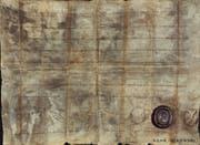 Der Lothar-Brief von 840. (Bild: Chorherrenstift Luzern)