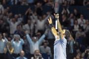 Bereits acht Mal hat Roger Federer beim Heimturnier in Basel über den Titel gejubelt. (Bild: Daniela Frutiger/Freshfocus (Basel, 29. Oktober 2017))